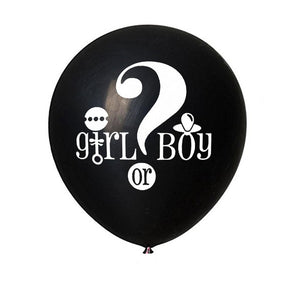36Inch Gender Reveal Balloon Black Reveal Girl or Boy letter Latex Balloon with Confetti Birthday Balloons for Baby Shower Party - Kesheng special effect equipment