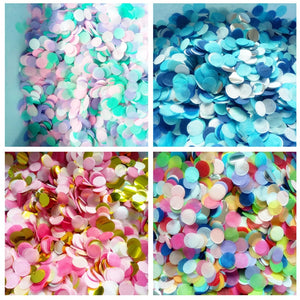 20g 2.5cm Circle Shape Round Sprinkles Tissue Paper Confetti Boda Birthday Party Wedding Table Decoration Pinata Balloon Fillers - Kesheng special effect equipment
