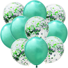 10pcs 12inch Double Color Confetti Latex Balloons Birthday Wedding Party Decors Balloons Kids Birthday Baby Shower Decorations - Kesheng special effect equipment