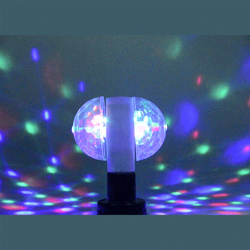 E27 220V 110V LED Lamp RGB Bulb Night Light 6W Lumiere Lampada Auto Rotating Crystal Stage Magic double Balls DJ party effect - Kesheng special effect equipment