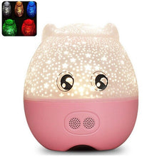 Mini Pig Shape Rotating Night Light Bluetooth Bedroom With Speaker Multi-function Sky Star Master Lovely Projection Light - Kesheng special effect equipment