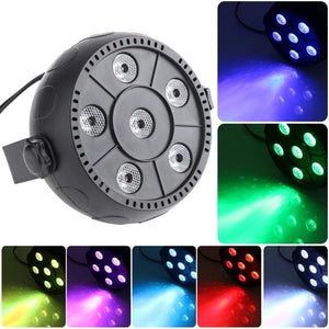 AC 90-240V Voice-activated Mini RGB 6LED PAR Stage Light Indoor Disco Lamp EU Plug for Family Party KTV box Square - Kesheng special effect equipment