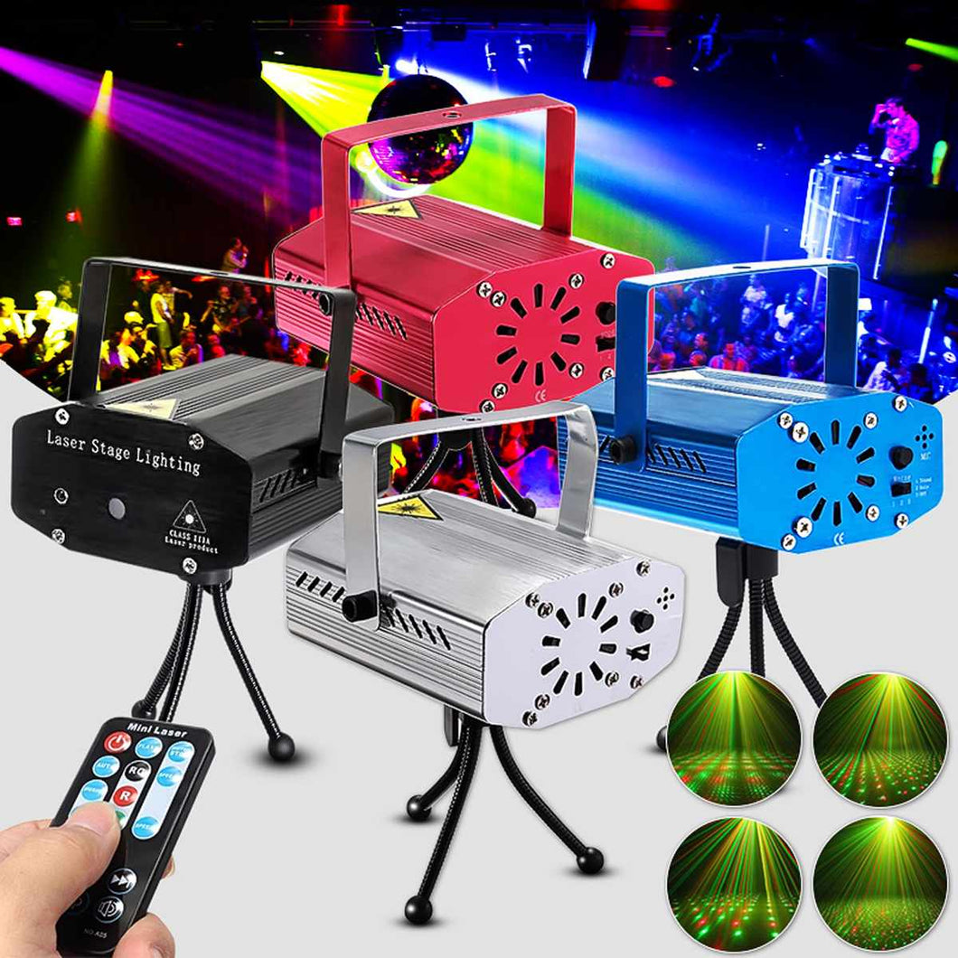 LED Lighting Stage Lights Wireless Mini Laser Projector Stage Lights Party Lighting Projector With Remote Control for DJ Disco - Kesheng special effect equipment