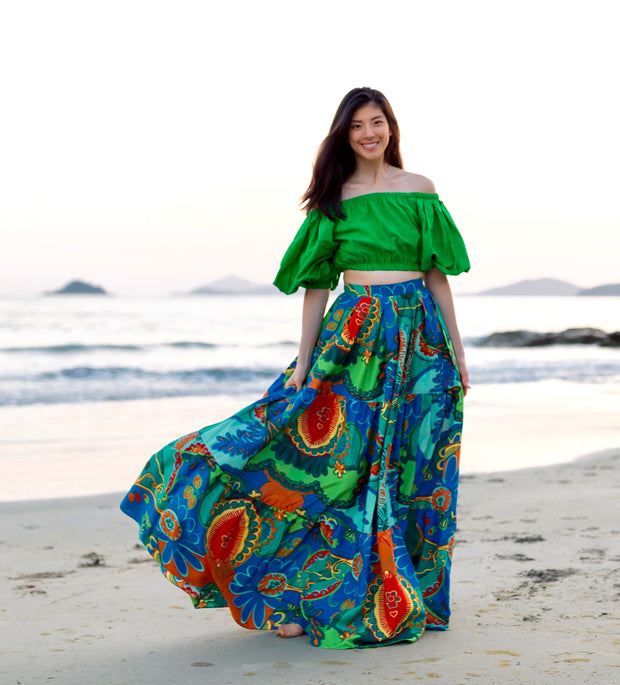 Tanji Tide Tiered Maxi Skirt (Regular & Tall Length)