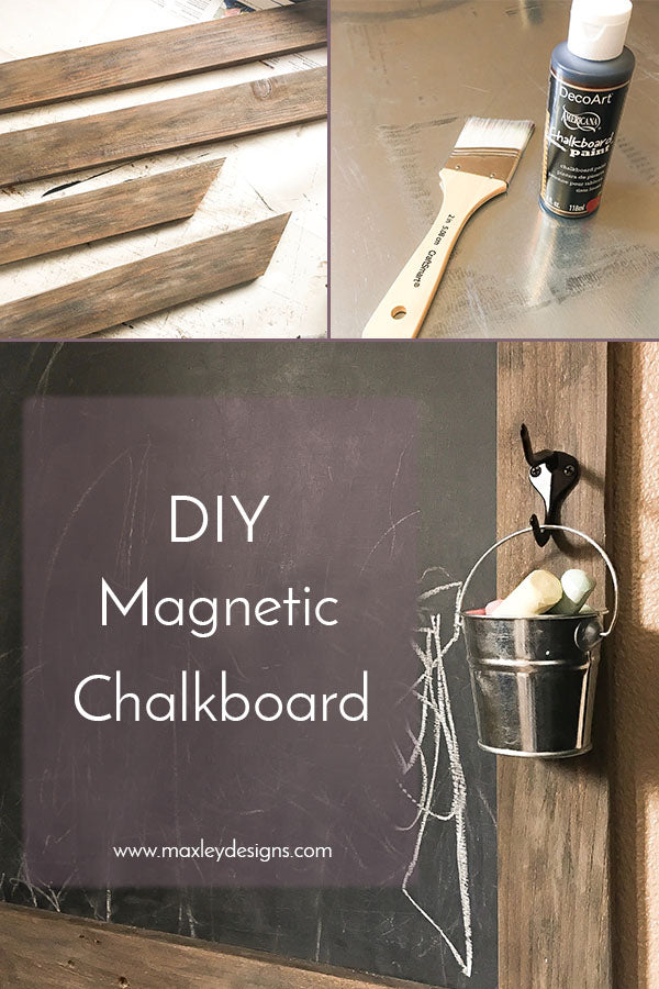 DIY Magnetic Chalkboard for Kids Room, Barnwood Finish