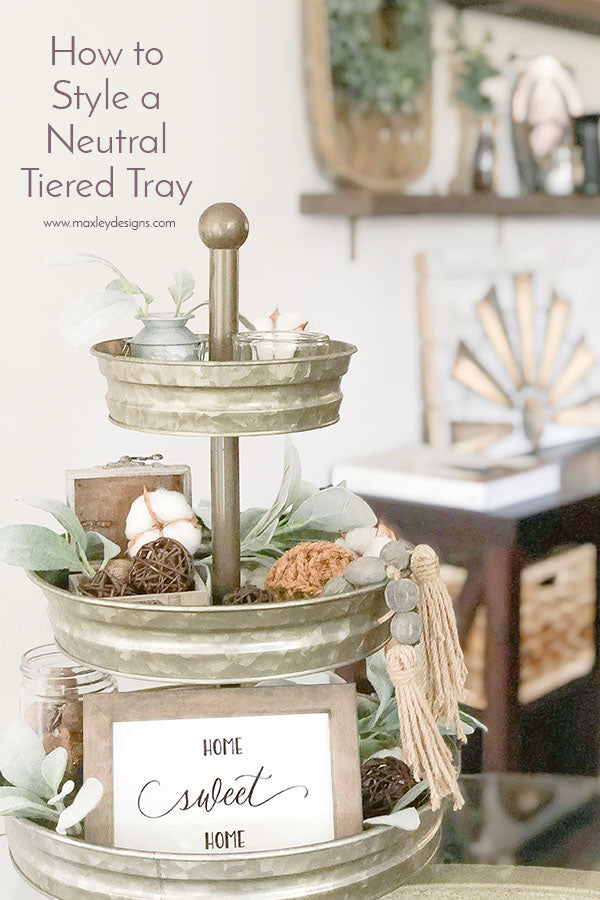 How to Style a Neutral Tiered Tray