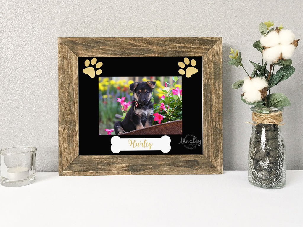 our dogs have paws, custom dog photo mat, personalized dog picture frame, custom dog picture frame