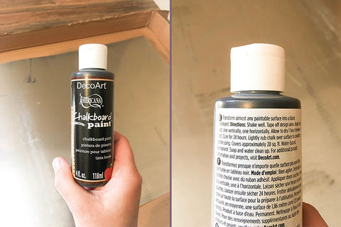 Chalkboard Paint, front and back