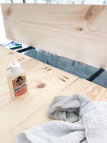 DIY Farmhouse Tabletop, Gorilla Glue, Wood Glue, 1x10s