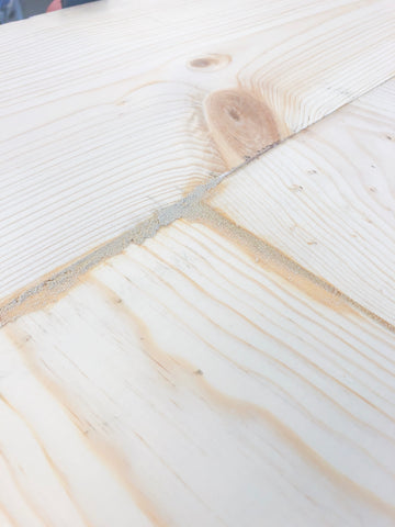 DIY Farmhouse Tabletop, Minwax Stainable Wood Filler