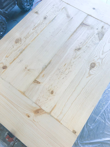 DIY Farmhouse Tabletop, Minwax Wood Filler, Woodworking, Sanding