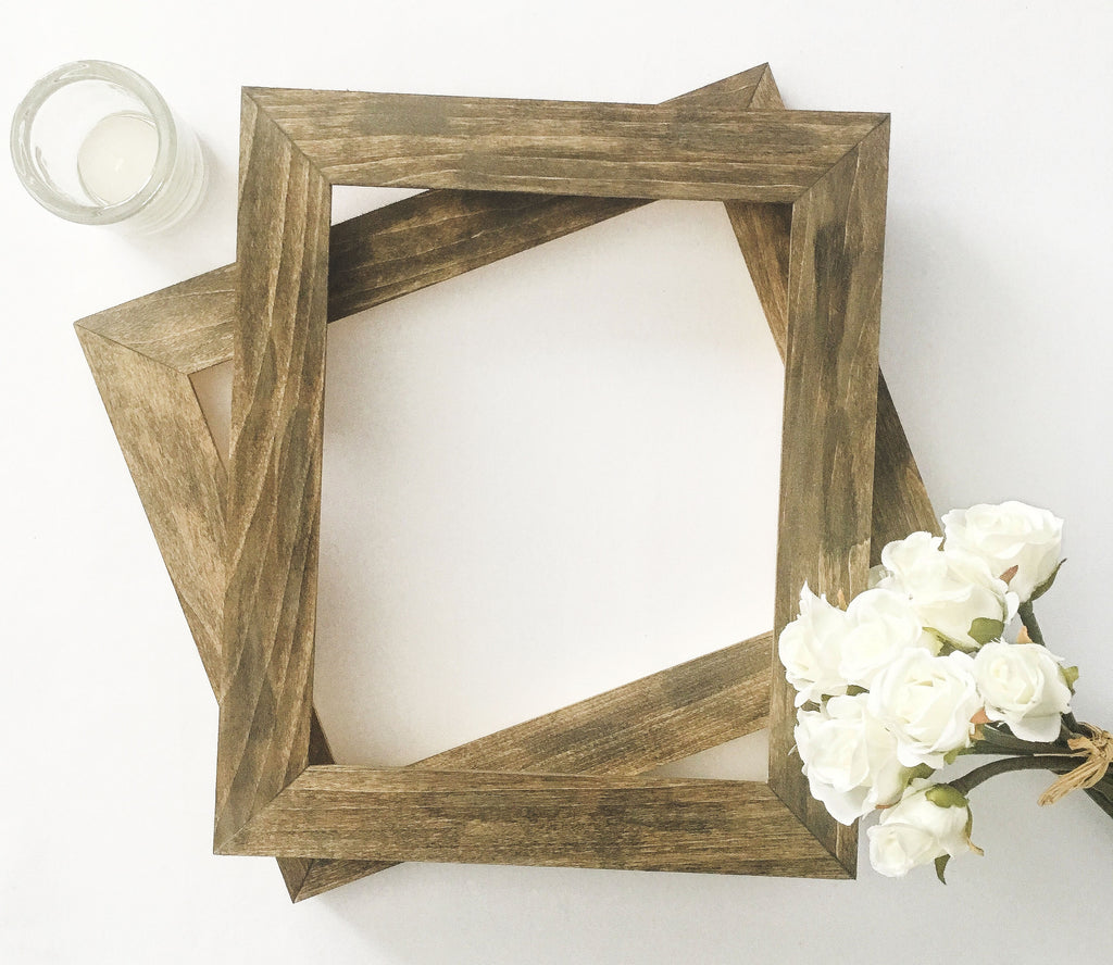 Barnwood Finish Wood Picture Frame, Faux Barnwood Frame, Fits 4x6, 5x7, 8x10 Pictures, Hand Stained, Rustic, Distressed, Shabby Chic Decor