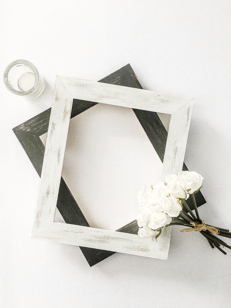 Distressed Chalk Paint Wood Picture Frame, Rustic Hand Stained Picture Frame, Farmhouse Style Picture Frame, Rustic Picture Frame, Chippy Paint Picture Frame