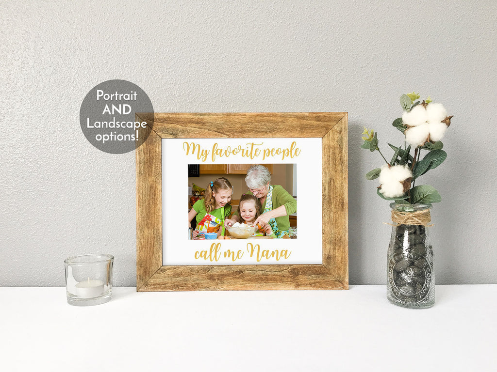 """My Favorite People Call Me Grandma"" Personalized White Photo Mat"