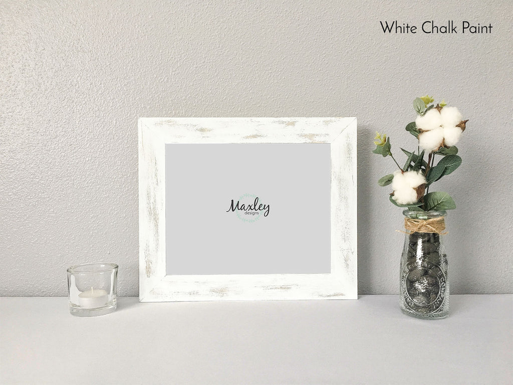 Farmhouse Style Wood Picture Frame Set, Farmhouse Collection, Hand Stained Picture Frame, Custom Picture Frame, Shabby Chic Frame, Barnwood Finish, Classic Gray, Black Chalk Paint, White Chalk Paint