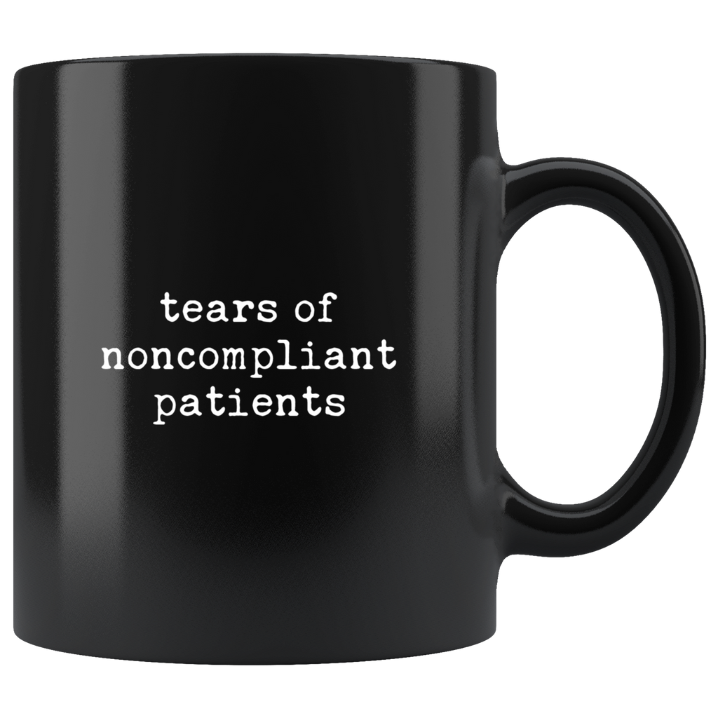 Tears of noncompliant patients