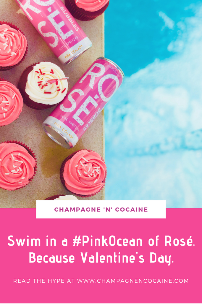Swim in a #PinkOcean of Rosé. Because Valentine's Day.