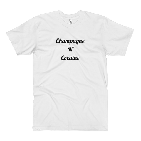 Champagne 'N' Cocaine Tall Tee White