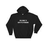 Welcome To God's Playground Hoodie Black