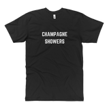 Champagne Showers Tall Tee Black