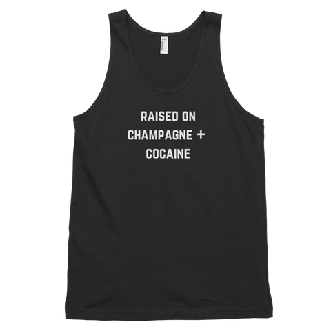 Raised On Champagne + Cocaine Tank Black