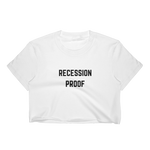 Recession Proof Crop Tee White