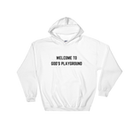 Welcome To God's Playground Hoodie White