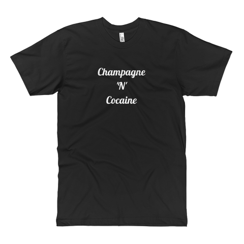 Champagne 'N' Cocaine Tall Tee Black