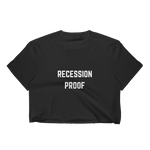Recession Proof Crop Tee Black