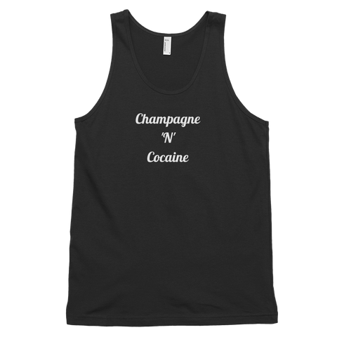 Champagne 'N' Cocaine Tank Black