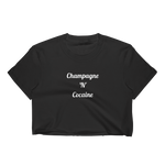 Champagne 'N' Cocaine Crop Tee Black