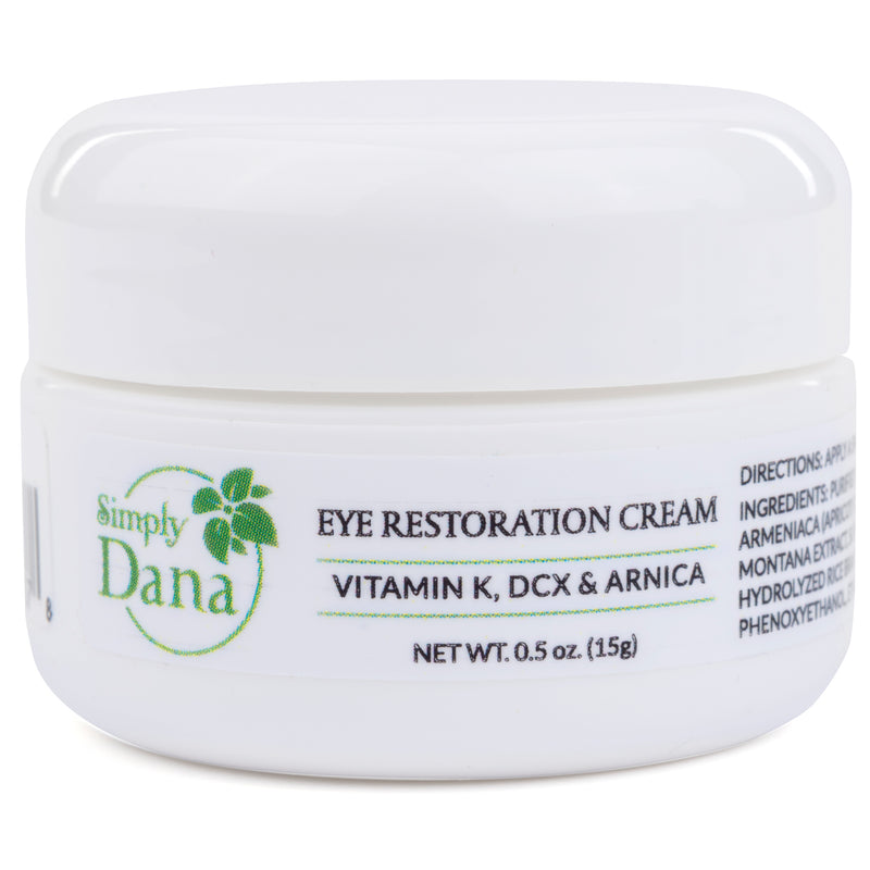 Simply Dana Eye Restoration Cream - Vitamin K, DCX & Arnica - Remove Dark Circles 0.5 oz (15g)