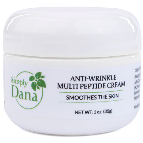 Simply Dana Anti-Wrinkle Multi Peptide Cream - Smooths Skin Naturally - 1 oz (30g)