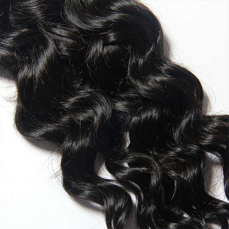 Italian curly virgin hair from Malaysian 3 Bundles with Frontal-Tenlon