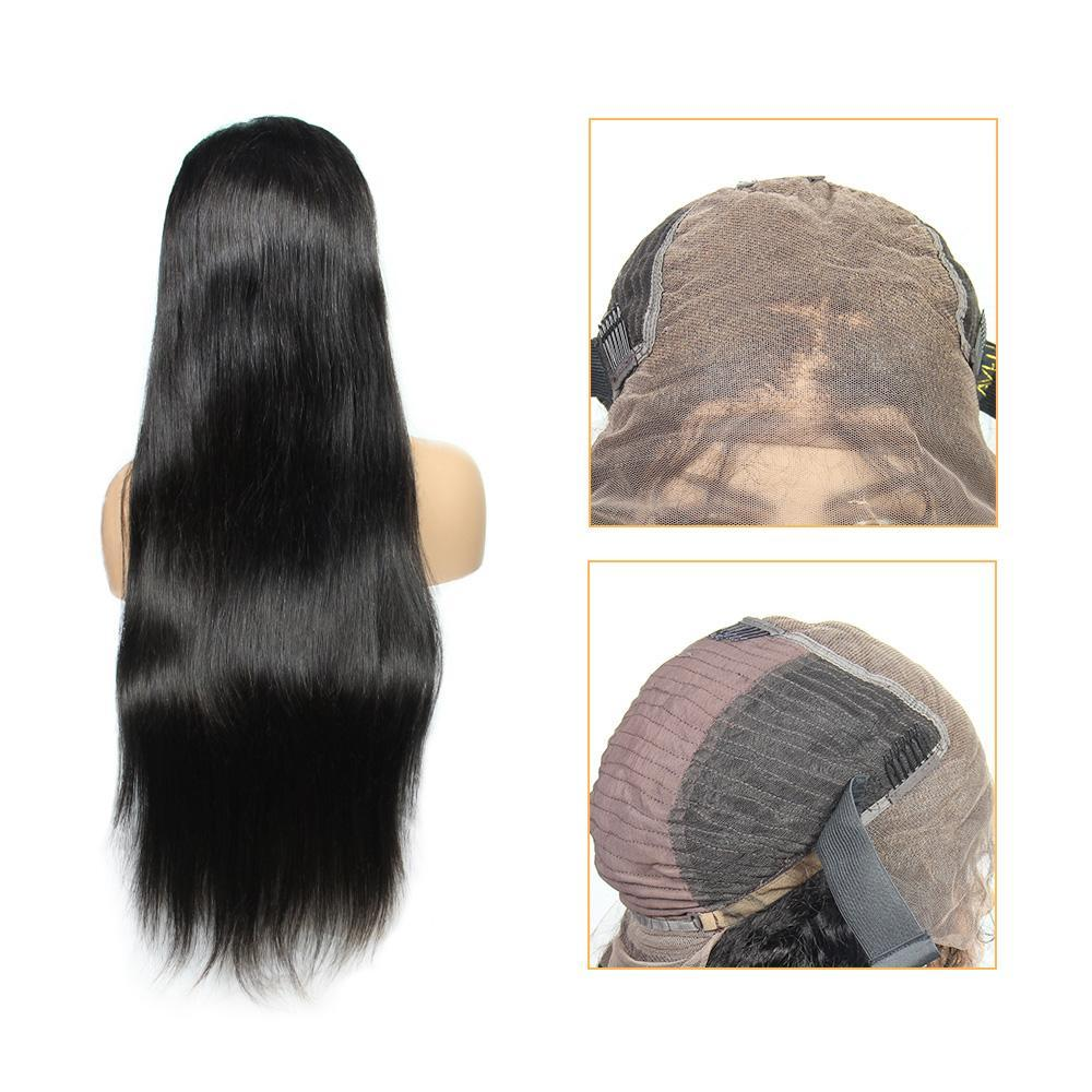human hair lace front wig wholesale Remy natural straight vendors-Tenlon