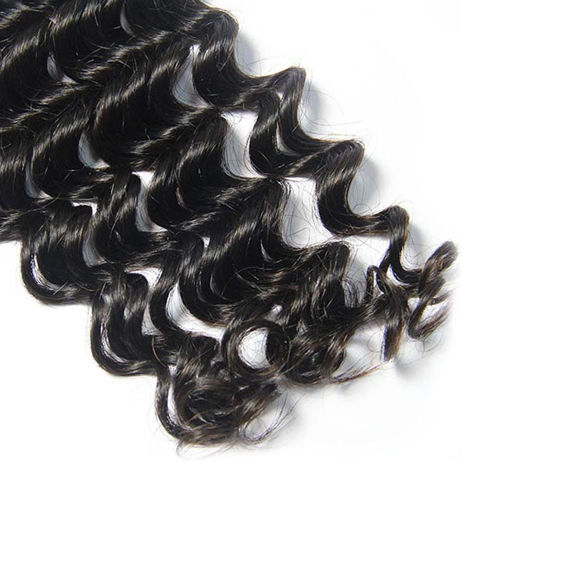 Raw Indian Remy Cuticle Aligned Virgin Hair Bundles Deep Wave | TENLON