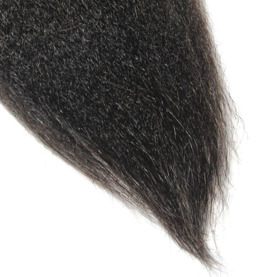 Malaysian Remy Cuticle Aligned Raw Hair Bundle Kinky Straight | Tenlon