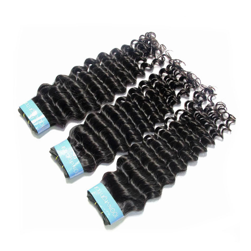 Malaysian Rew Cuticle Aligned Virgin Deep Wave Hair 3 Bundles | TENLON