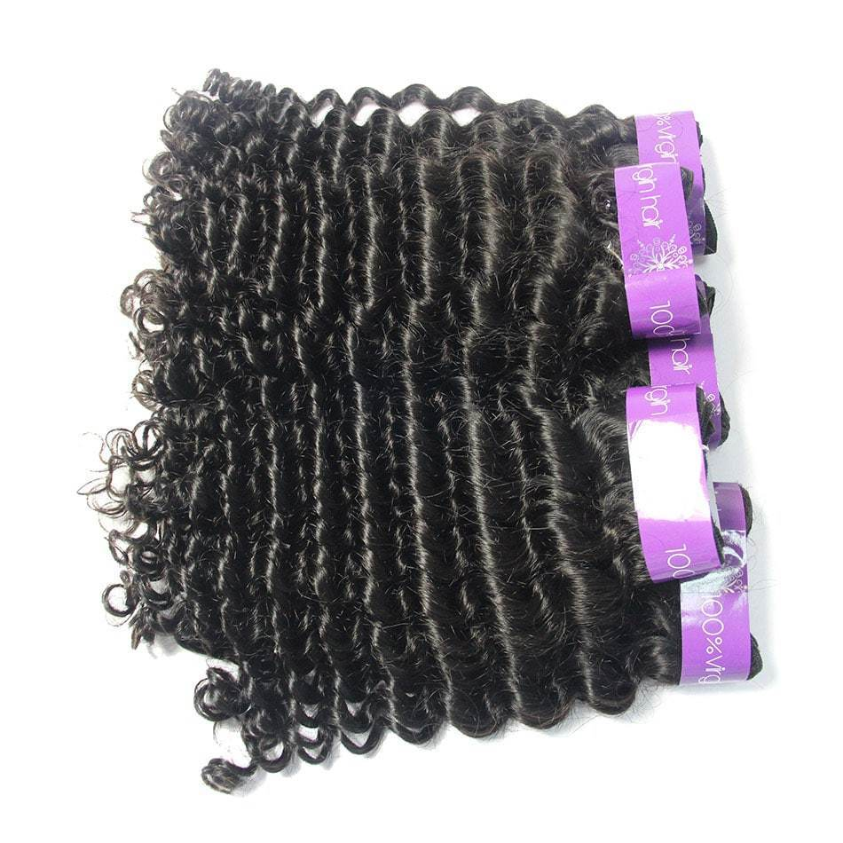 peruvian curly cuticle aligned Raw hair weaves 4 Bundles vendors-Tenlon