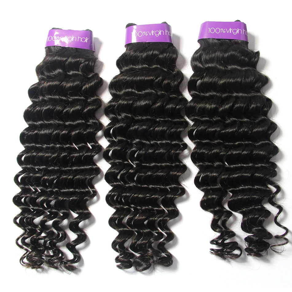 Peruvian Rew Cuticle Aligned Virgin Deep Wave Hair 3Bundles | TENLON