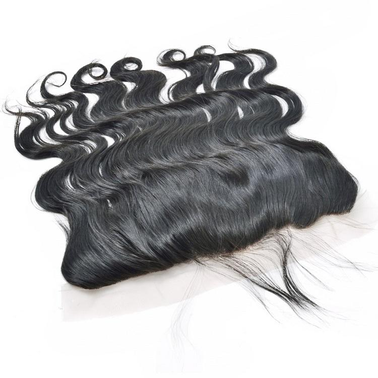 raw indian Body wave hair unprocessed 4 Bundles with Frontal-Tenlon