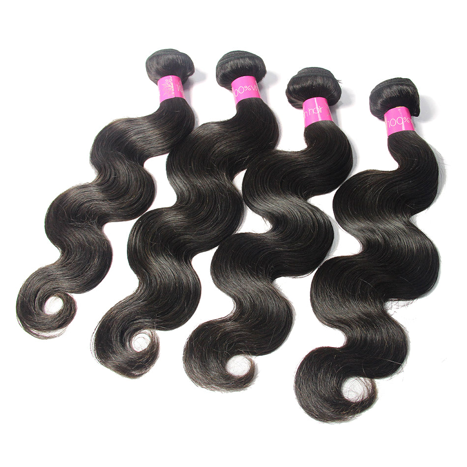 Brazilian Body Wave wholesale Virgin Remy Human Hair 4Bundles | TENLON