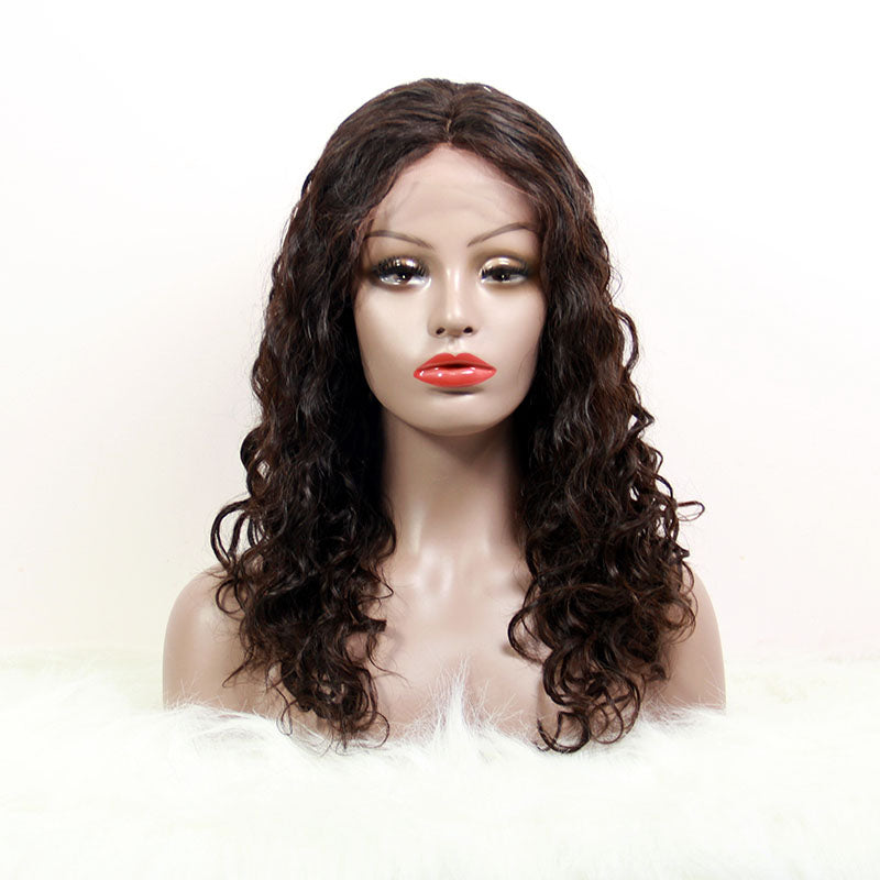 lace front wig human hair Italian curly cheap | Tenlon Hair