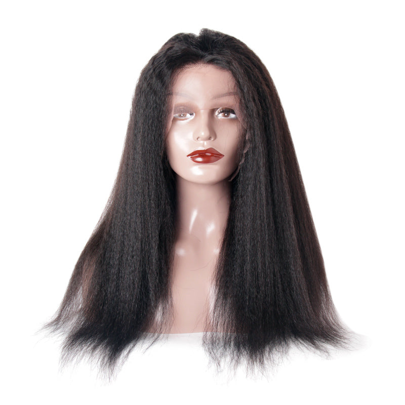 Lace front wig kinky straight for black women | Tenlon Hair