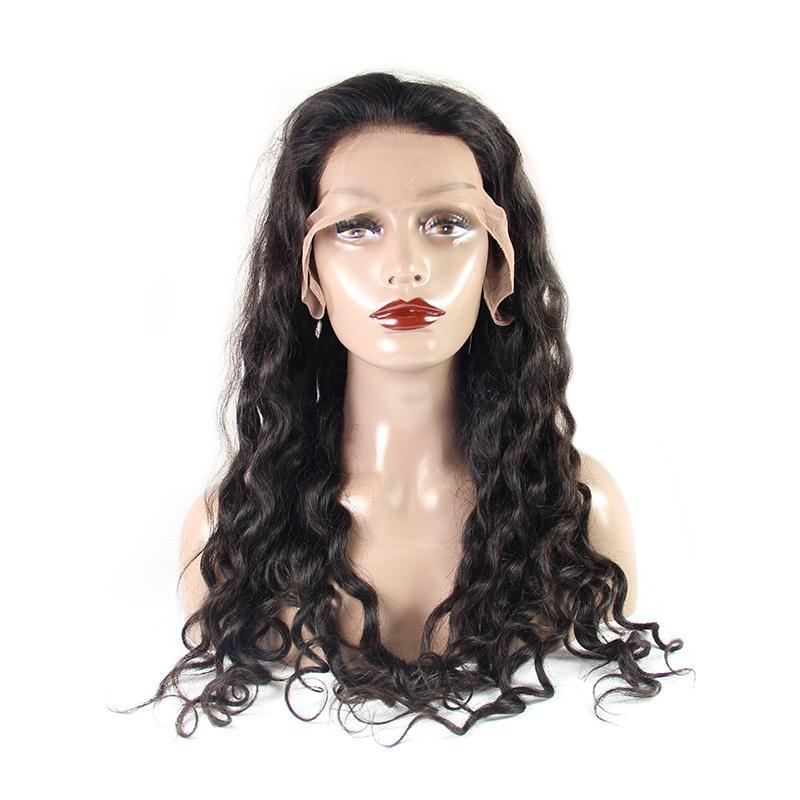 lace front wig with baby hair wholesale loose wave natural color-Tenlon