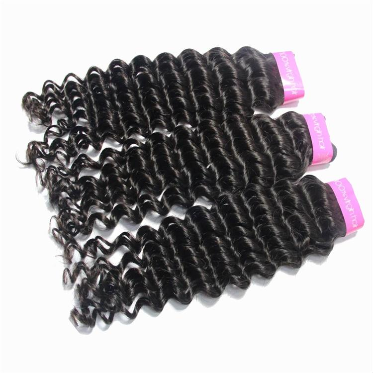 cuticle aligned curly hair weave wholesale 3 Bundles & Frontal-Tenlon