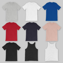 Load image into Gallery viewer, Tank top and tshirt color examples