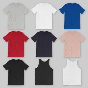 Tank top and tshirt color examples