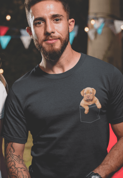 cute puppy in the pocket t-shirt gift for dog lover