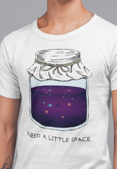 jar filled with solar system t-shirt gift for astronomer and space lover